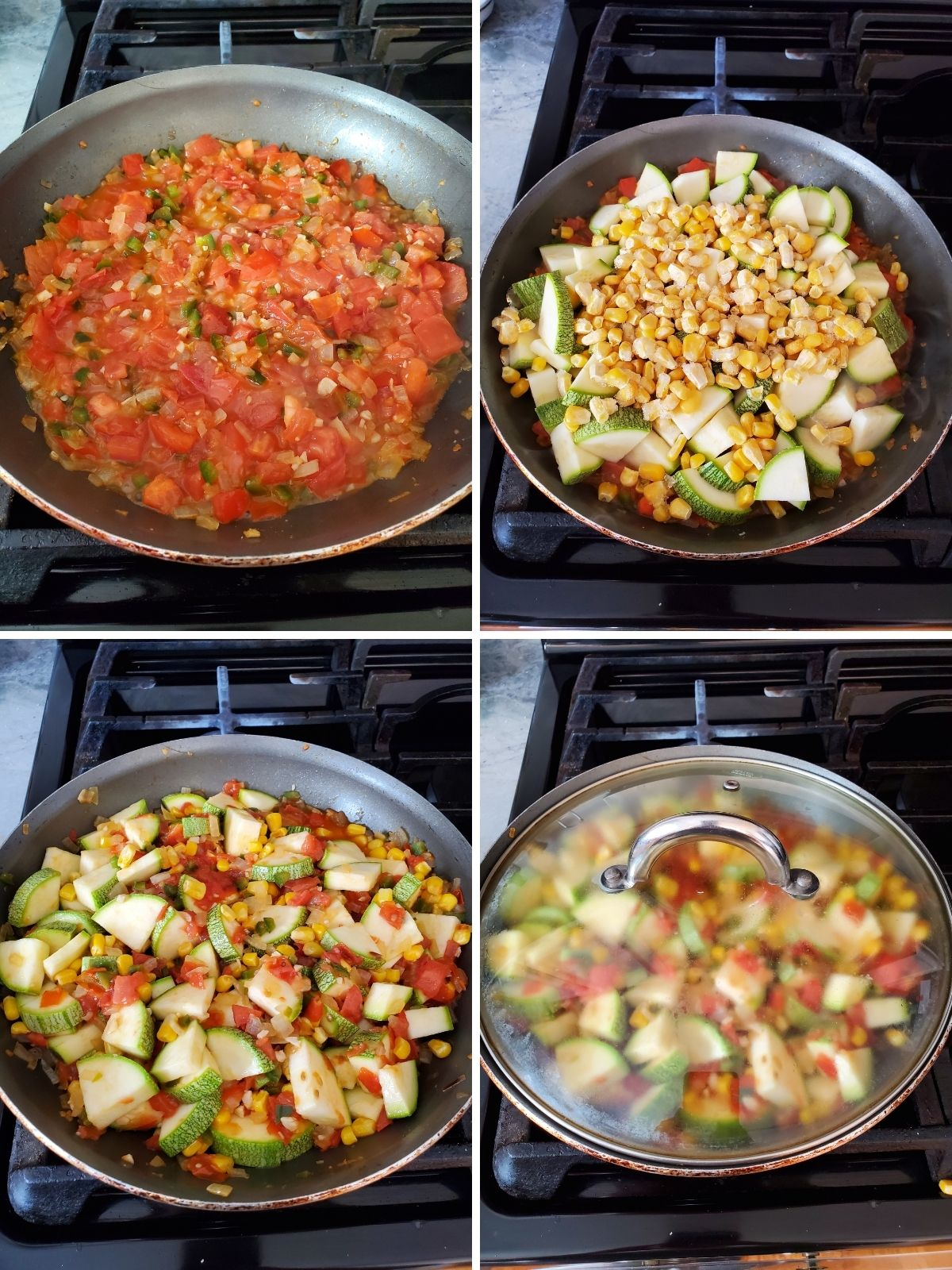food in a frying pan on the stove